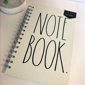 """Rae Dunn Spiral Notebook """"Note Book"""""""